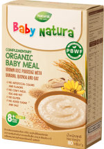 Baby Natura - Brown Rice Porridge Banana , Quinoa and Oat x 8