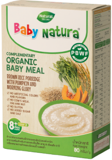 Baby Natura - Brown Rice Porridge Pumpkin and Morning Glory x 8