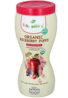 Baby Natura - Organic Riceberry puffs Apple With Berries x 12