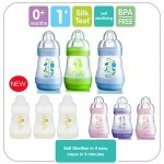 MAM - Ultivent Anti Colic Bottle (5oz/160ml) x 6 Mix colour